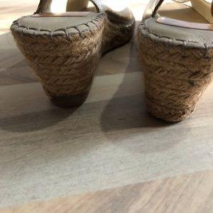 Fabiolas Shoes - Fabiolas Metallic Slingback Wedge Sandal Euro 41